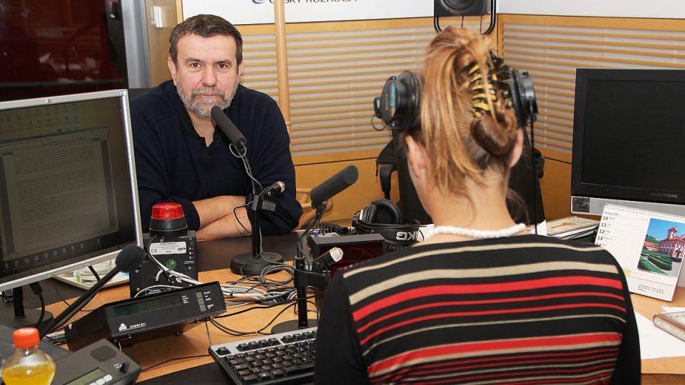 Vlastimil Vondruška během rozhovoru