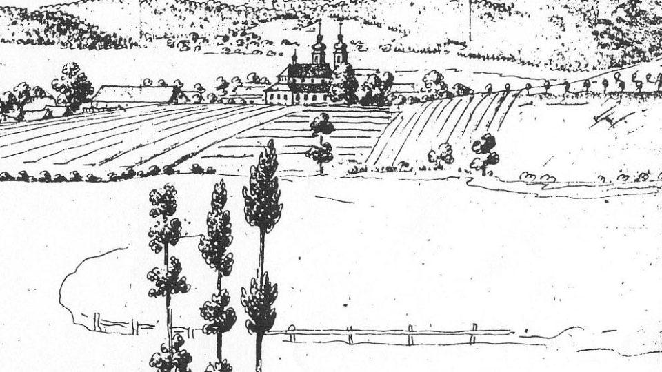 Kostel svaté Markéty v Podlažicích - archivní vyobrazení