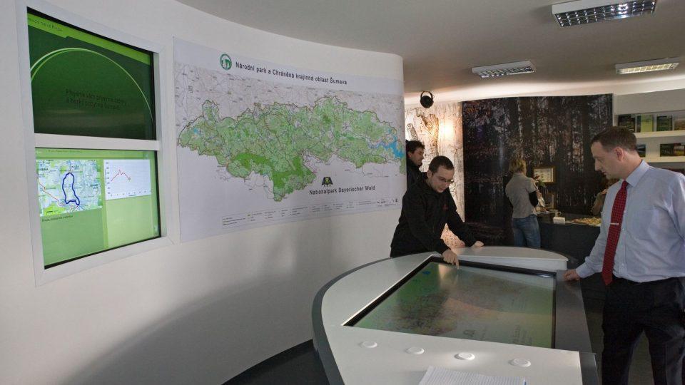 Informační středisko Národního parku a Chráněné krajinné oblasti Šumava v obci Kvilda