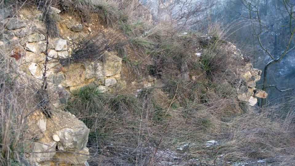 Výběr z fotografií zříceniny hradu Tetín v prosinci 2008
