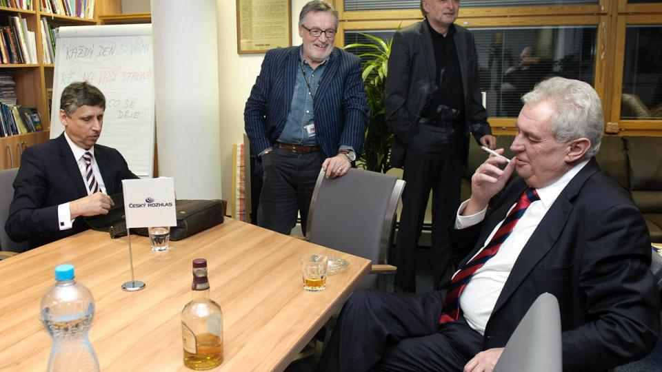 Jan Fischer a Miloš Zeman