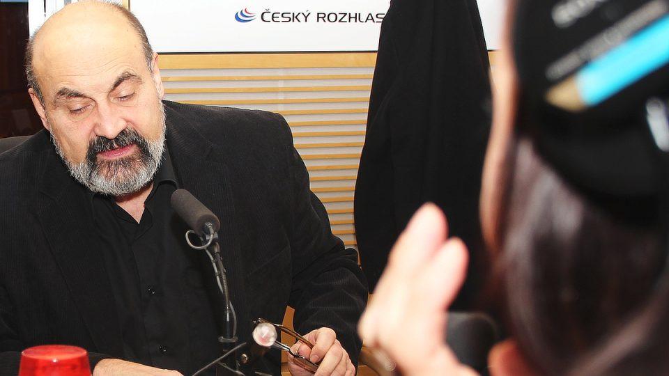 Profesor sociologie na Karlově univerzitě a prezident České křesťanské akademie Tomáš Halík ve studiu Radiožurnálu