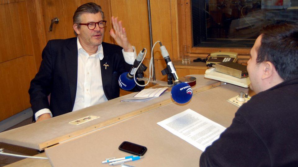 Pavel Maurer při rozhovoru s moderátorem Vladimírem Šťovíčkem