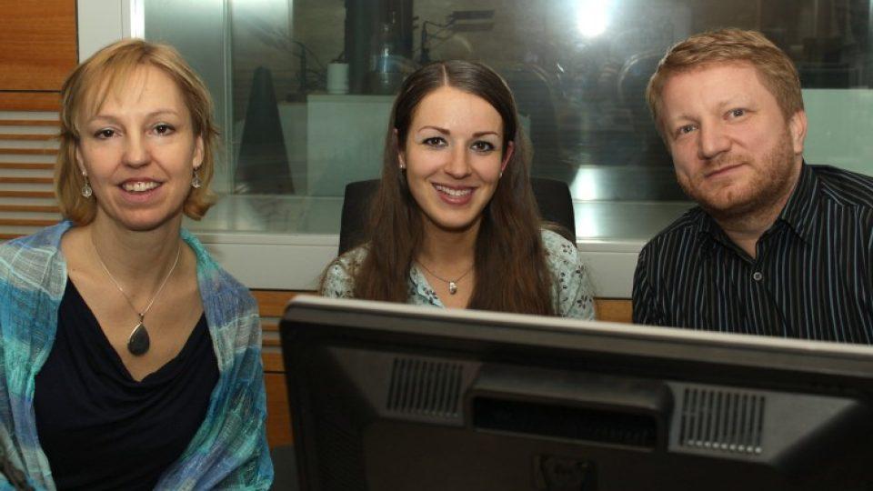 Anna Crkalová, Eva Kvasničkvá a Norbert Riethof