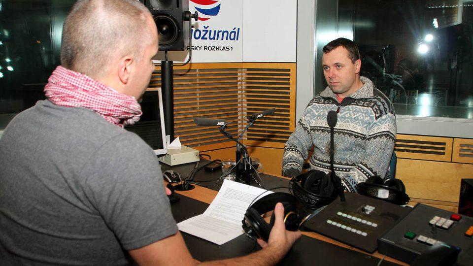 Bývalý silniční cyklista Lubor Tesař odpovídal na otázky Martina Veselovského