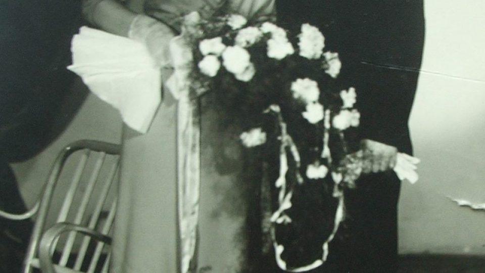 Josef Řepík na svatební fotografii