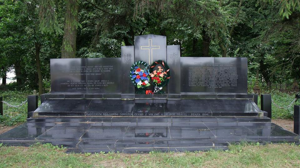 Pomník zavražděným na Ukrajině