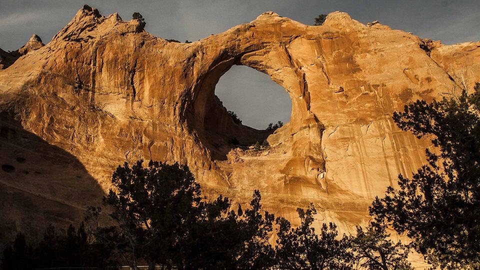 Posvátná skála Navahů Window Rock