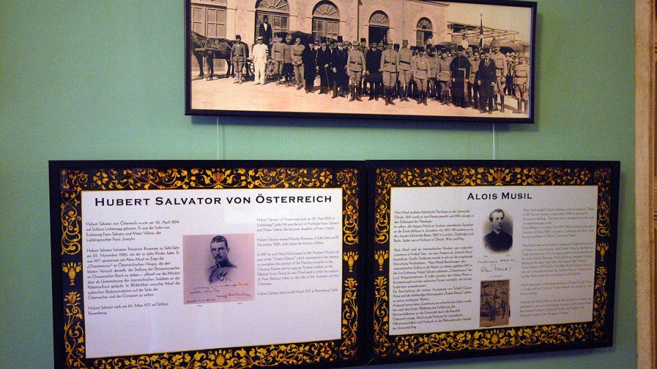 Mezi hosty byl v roce 1917 český orientalista Alois Musil. Na vojensko-politické misi do Osmanské říše doprovázel arcivévodu Huberta Salvatora, vnuka zesnulého rakousko-uherského císaře