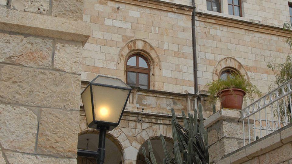 Průčelí Rakouského hospicu v jeruzalémském Starém Městě