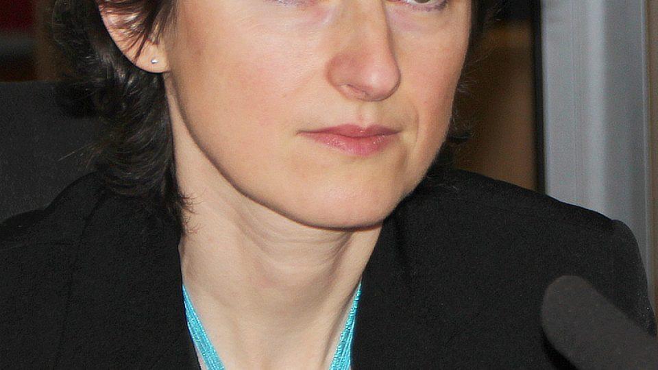 Lenka Eckertová během rozhovoru