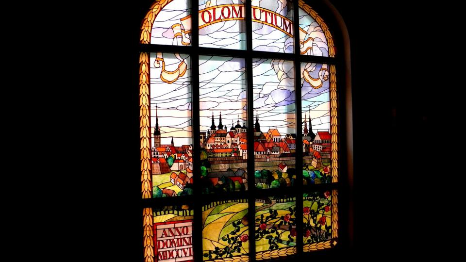 Vila Primavesi - vitrážové okno