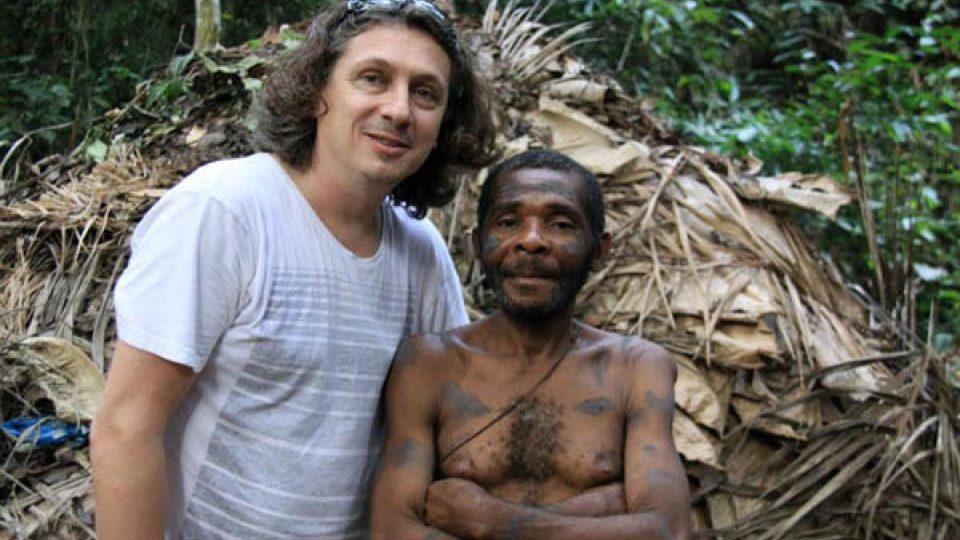 Robert Mikoláš s náčelníkem kmene