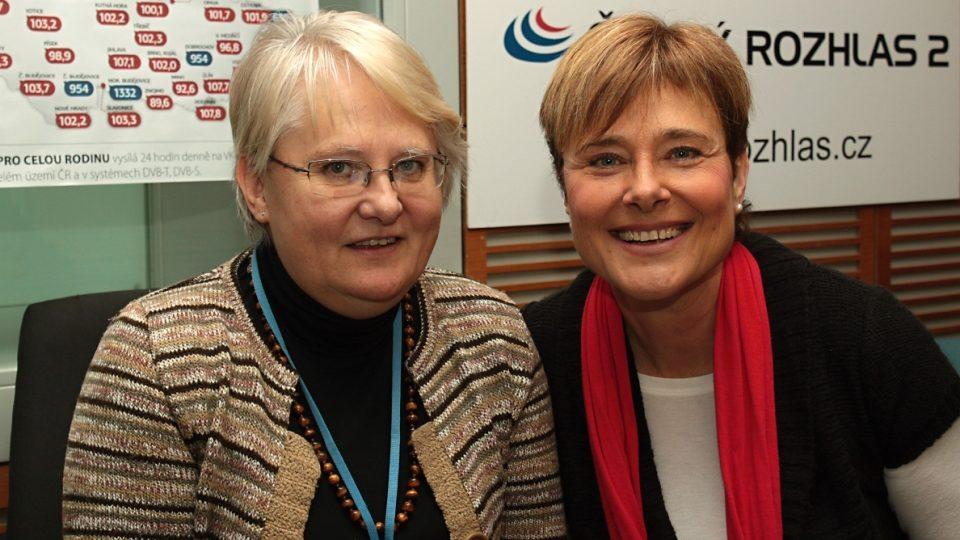 Iva Holmerová a Marie Retková