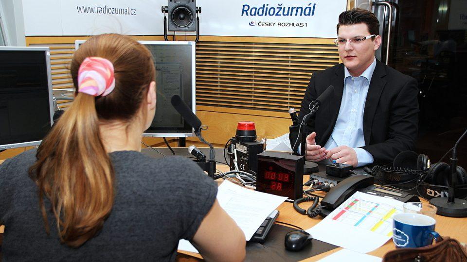 Ondřej Vrkoč a Lucie Výborná během rozhovoru