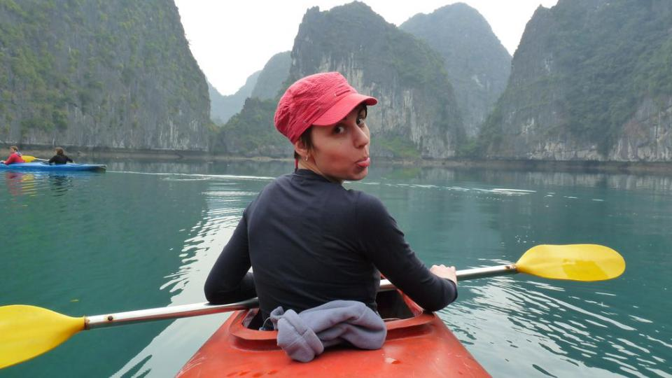 Klára Škodová se plavila po zátoce Ha Long ve Vietnamu