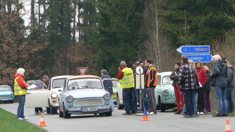 Sraz trabantů na Rokycansku v kempu Veselý Habr u Volduch