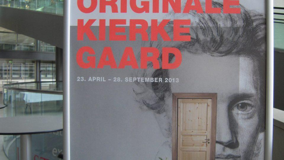 Plakát k výstavě S. A. Kierkegaarda v Královské knihovně