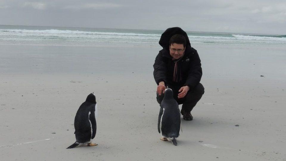 Jiří Hošek ví, že na tučňáky se musí pomalu...