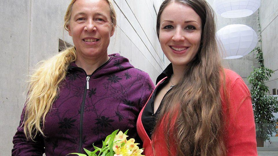 atletka Helena Fuchsová a moderátorka Eva Kvasničková (magazín Je jaká je 4. června)