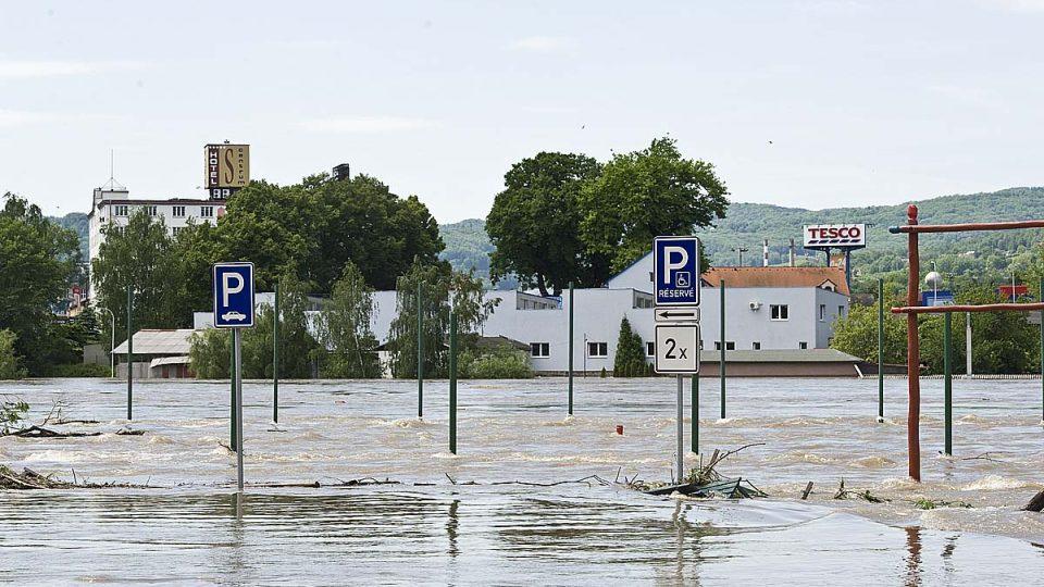 Povodně v Děčíně