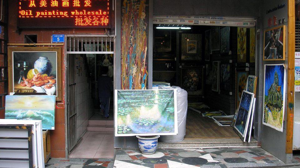 Jihočínský Dafen se stal centrem umění