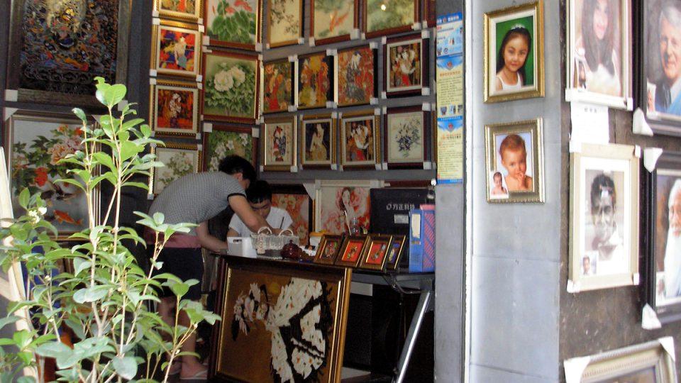 Obchody s obrazy jsou snad v každé ulici