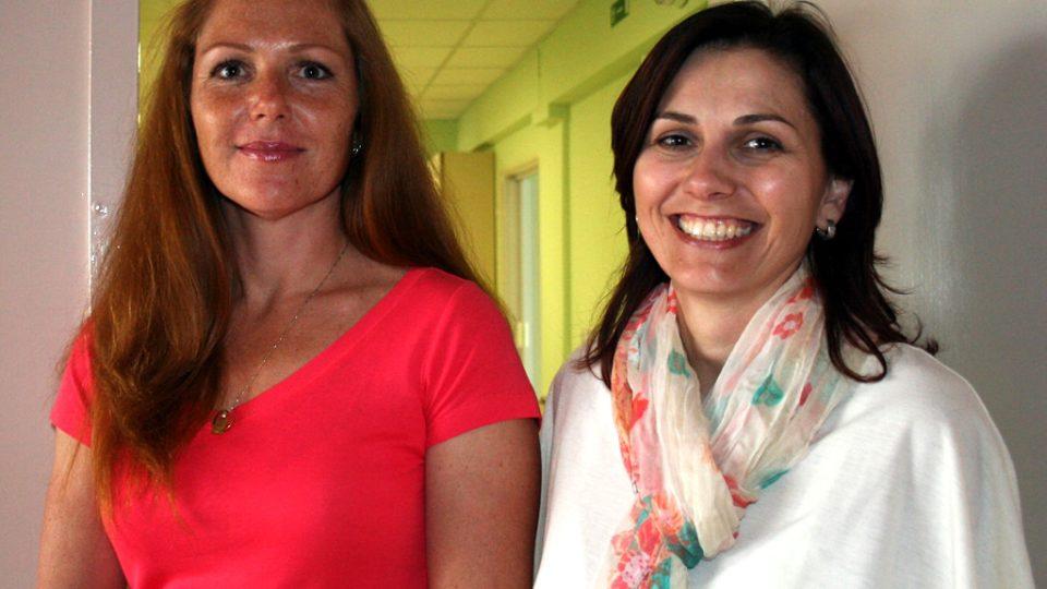 Pavla Hájková a Lenka Cimlerová (vpravo)