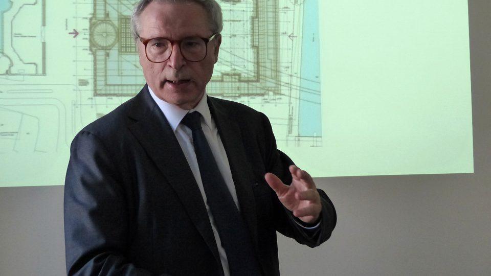 Profesor Franco Stella – italský architekt odpovědný za novou výstavbu berlínského zámku
