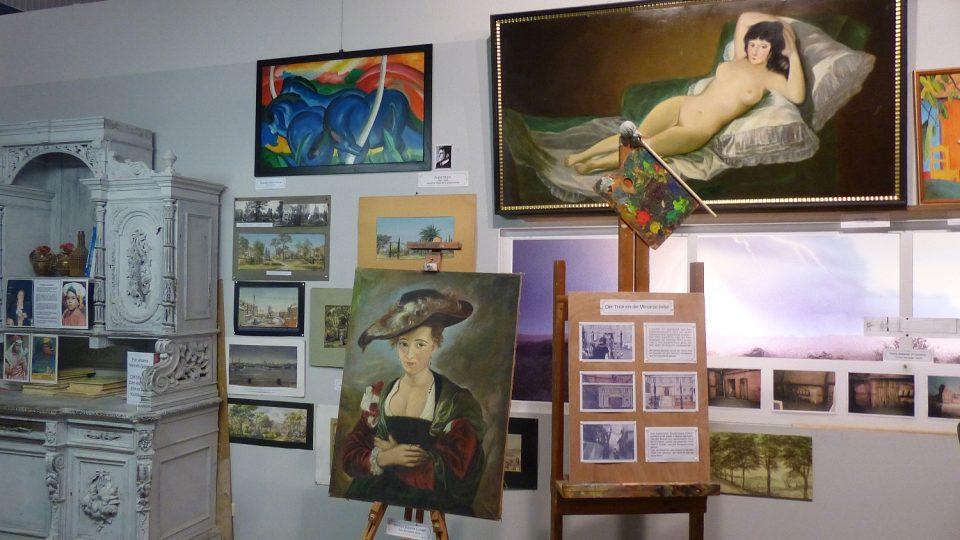 Ateliéry mají svou galerii kopií slavných obrazů