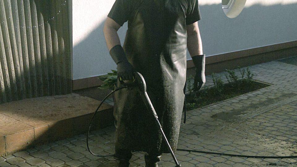 Pavel Kudrna pracuje