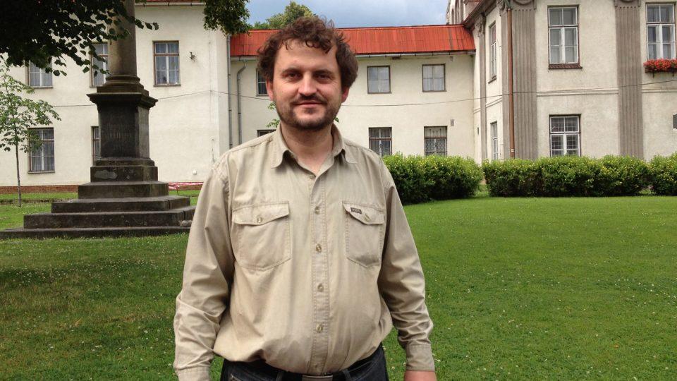 Tomáš Hradil, šéf brontosaurů, po nedělní návštěvě v kostele v Javorníku