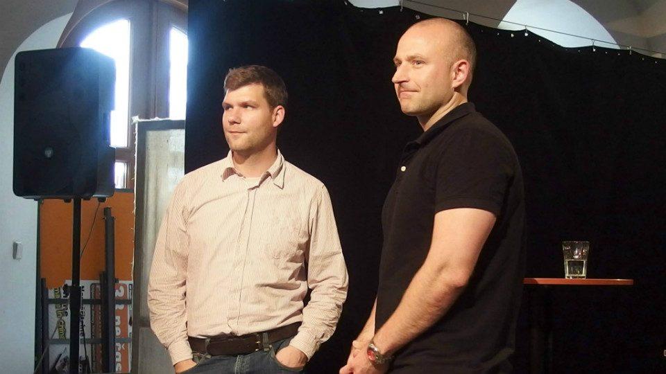 Autoři knihy Brno nacistické Michal Konečný a Alexandr Brummer.