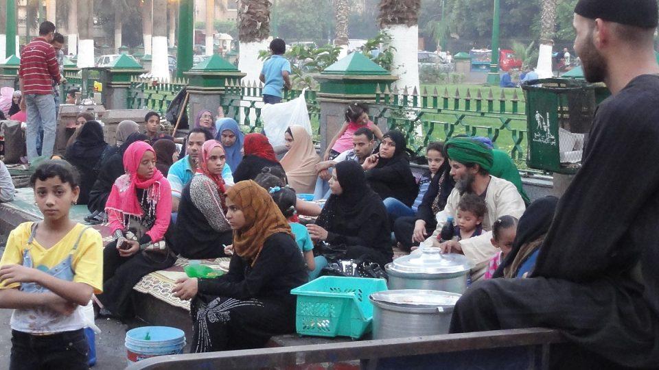 Atmosféra večerní Káhiry