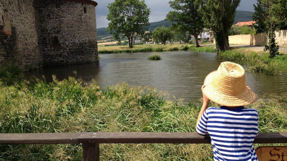 Vodní příkop na hradě Švíhov