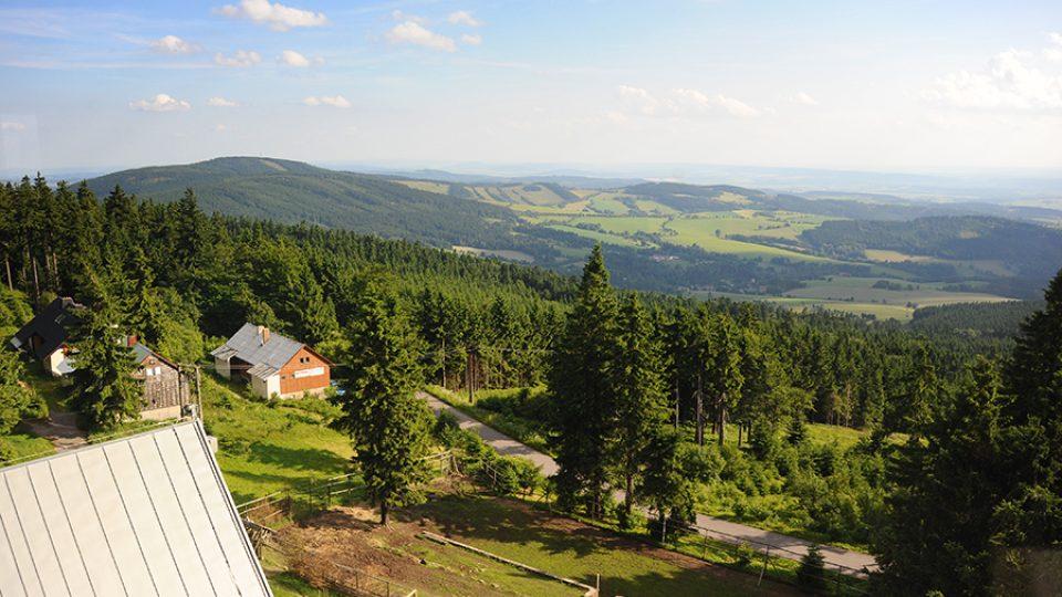 Výhled ze Suchého vrchu