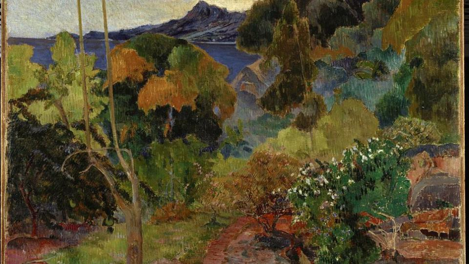 Paul Gauguin: Krajina na Martinique, 1887, olej na plátně