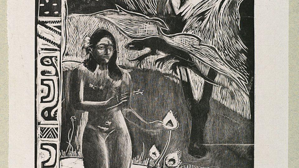 Paul Gauguin: Nave Nave Fenua (z cyklu Noa Noa), 1893, dřevořez; publikováno v roce 1921