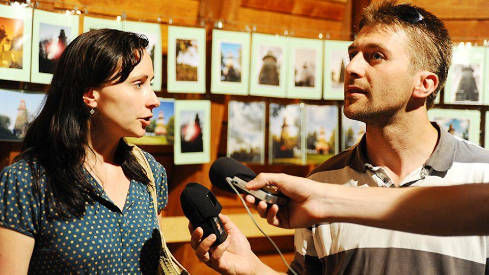 Kateřina Šípková z Informačního centra Žamberk a Josef Pejchal