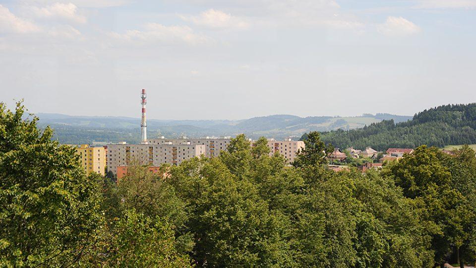 Výhled z Rozálky na město Žamberk