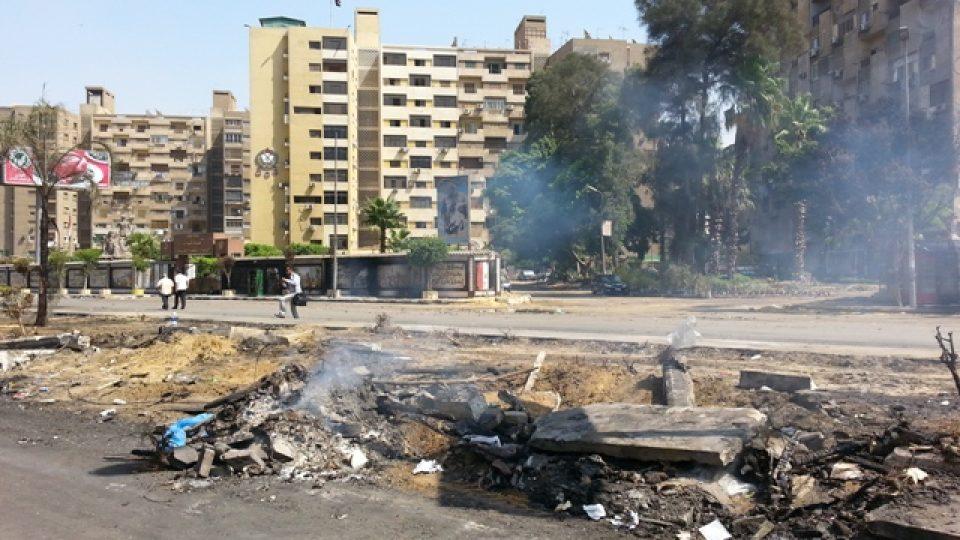 Bývalý protestní tábor po zásahu a následném úklidu