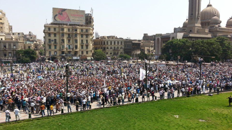 Islamisté na káhirském náměstí Ramsís