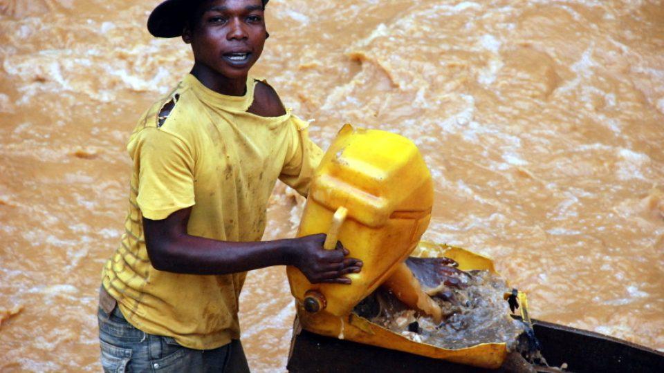 Těžba v Kongu