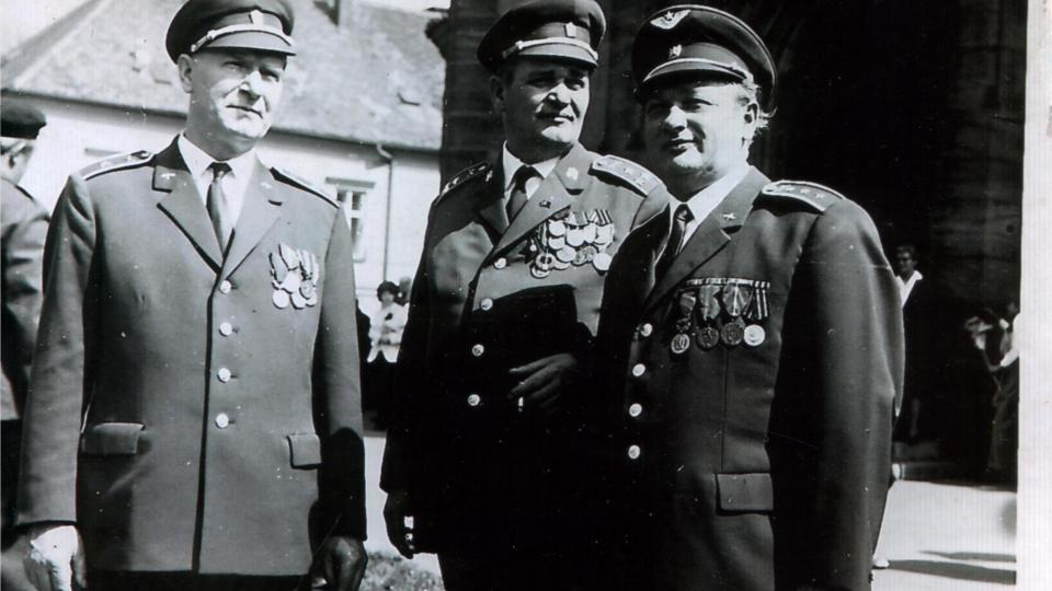 Ján Bugel v 70. letech (vpravo)