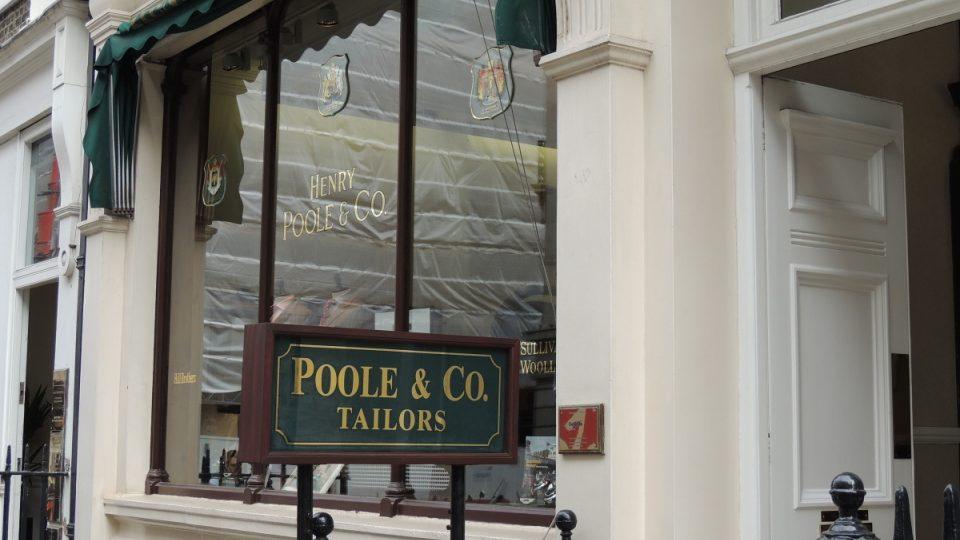 Obchod na známé Savile Row