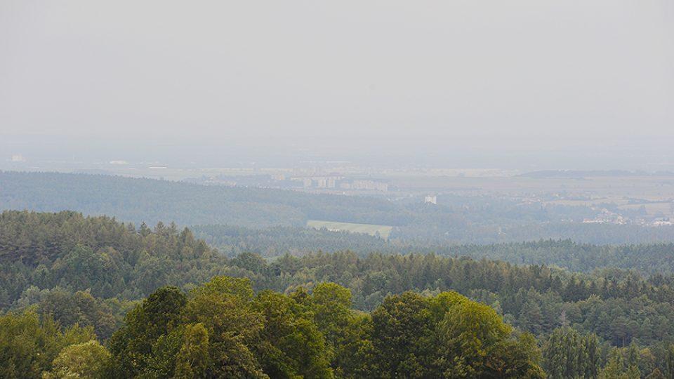 Výhled z Boiiky na Pardubice