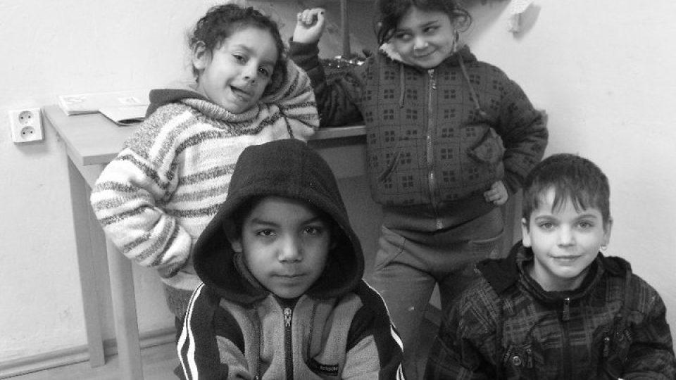 Děti v jednom z bytů na Bedřišce