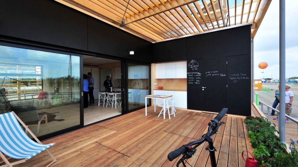 Energeticky soběstačný dům AIR House postavený během soutěže Solar Decathlon 2013