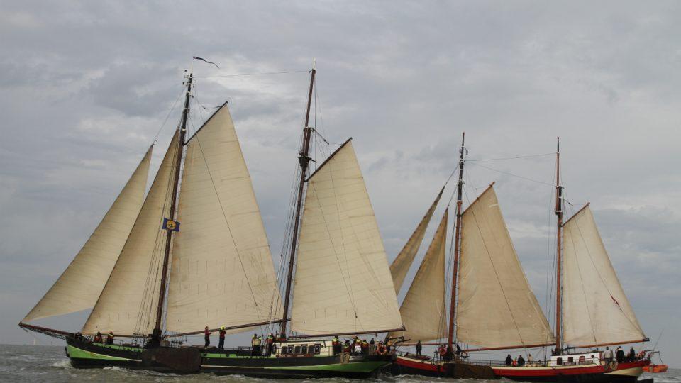 Staré plachetnice dříve sloužily jako obchodní lodě