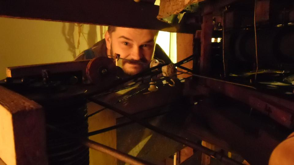 David Lejsek, restaurátor muzea, který se stará Metelkův mechanický betlém